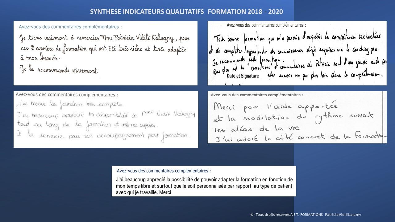 APPRECIATION APPRENANTS 2020 1